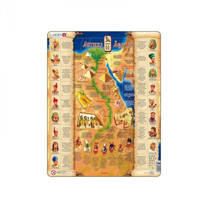 Puzzle maxi Egiptul antic (limba engleza), orientare tip portret,  95 de piese, Larsen [0]