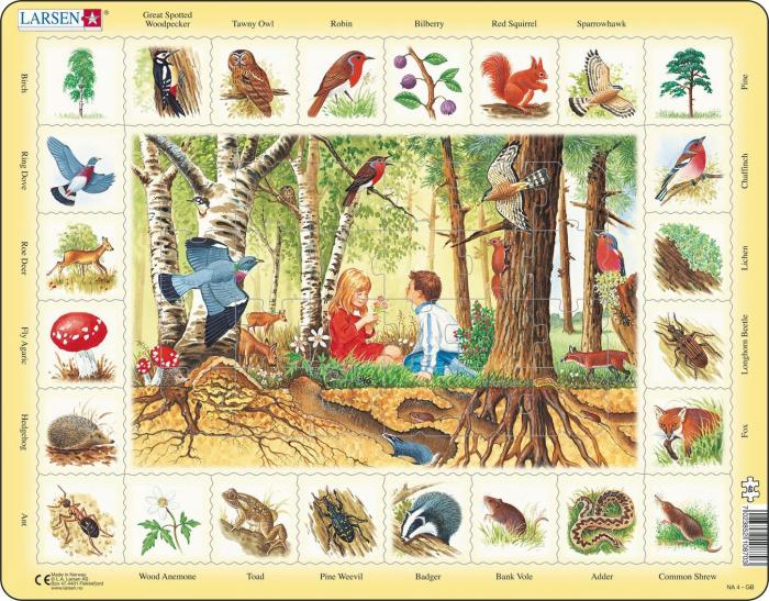 Puzzle maxi In padure, orientare tip vedere, 48 de piese, Larsen [1]