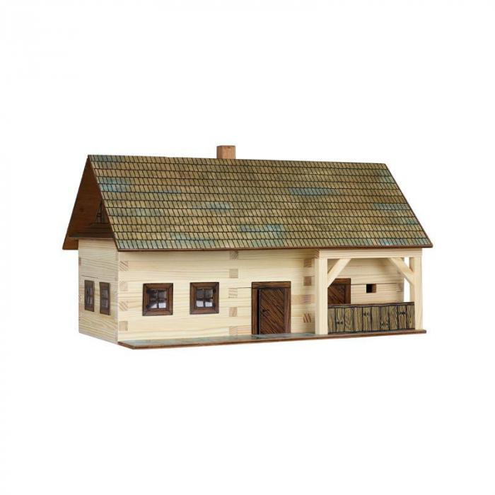 Set constructie arhitectura Casa de la tara, 174 piese din lemn, Walachia [0]