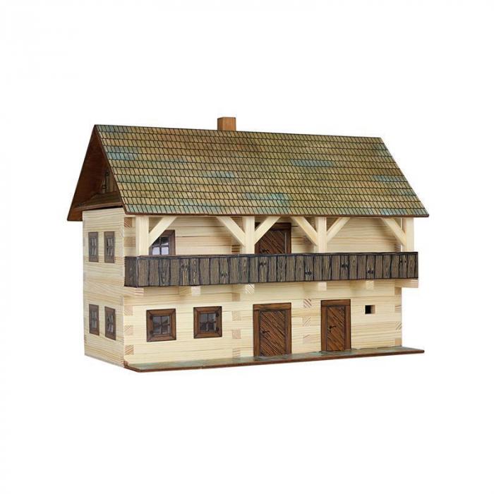Set constructie arhitectura Casa magistratului, 298 piese din lemn, Walachia [0]