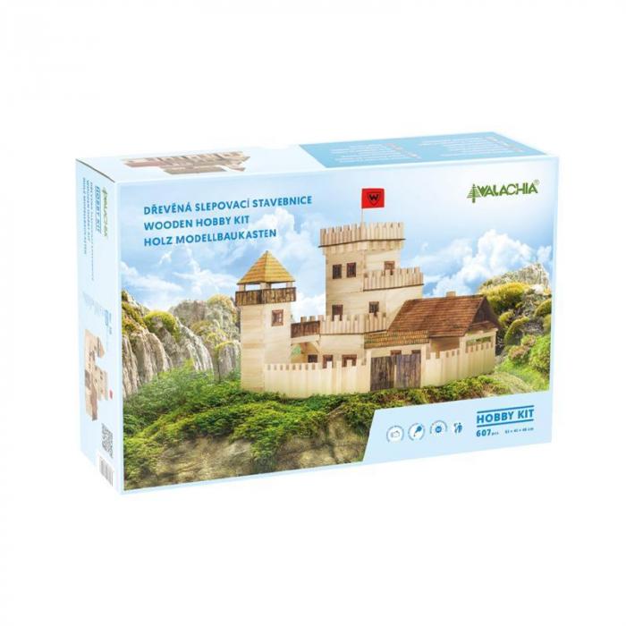 Set constructie arhitectura Castel, 607 piese din lemn, Walachia [0]