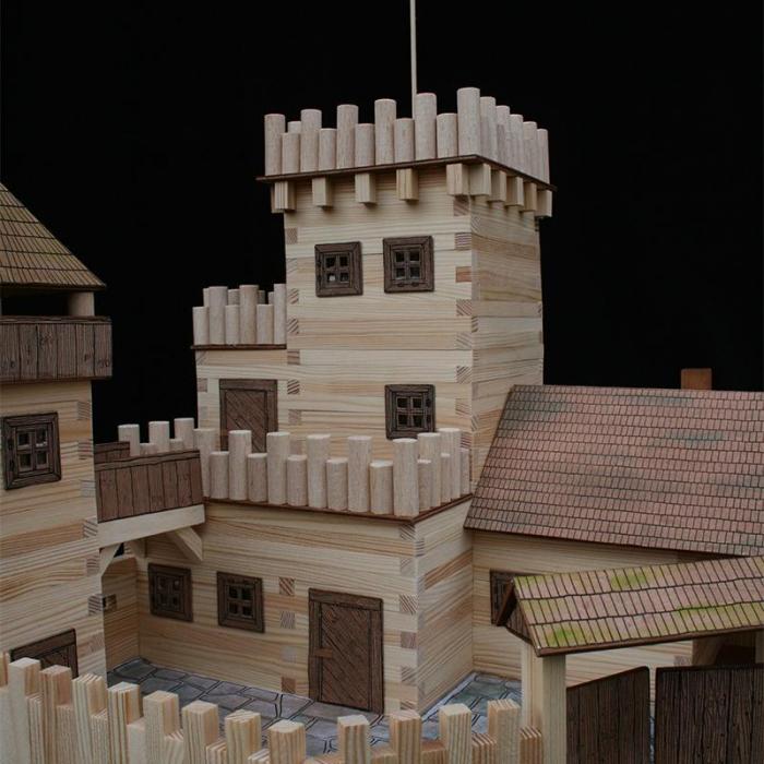 Set constructie arhitectura Castel, 607 piese din lemn, Walachia [6]