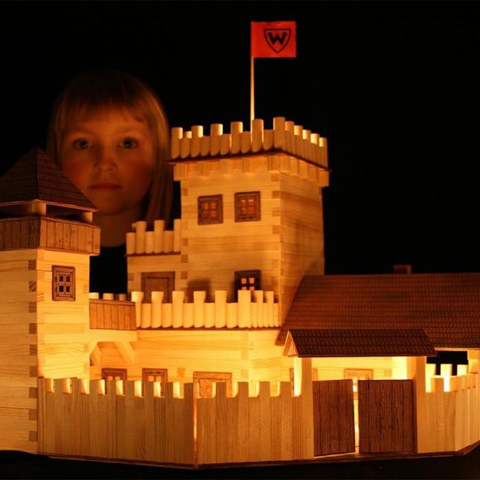 Set constructie arhitectura Castel, 607 piese din lemn, Walachia [4]