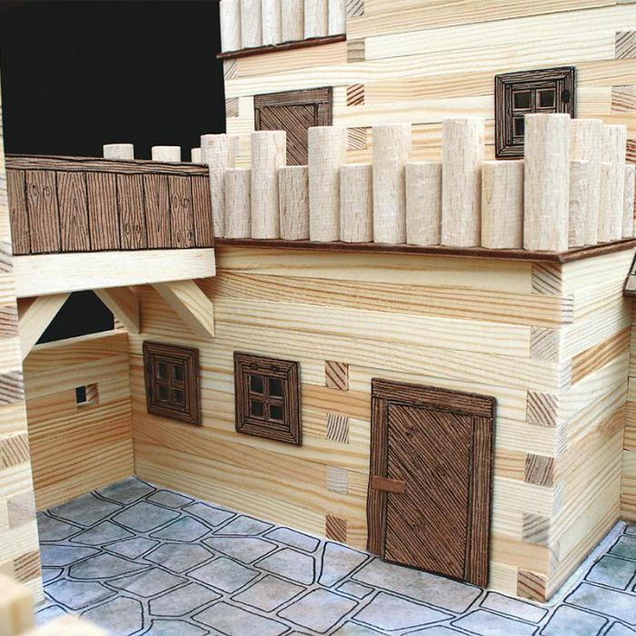 Set constructie arhitectura Castel, 607 piese din lemn, Walachia [2]