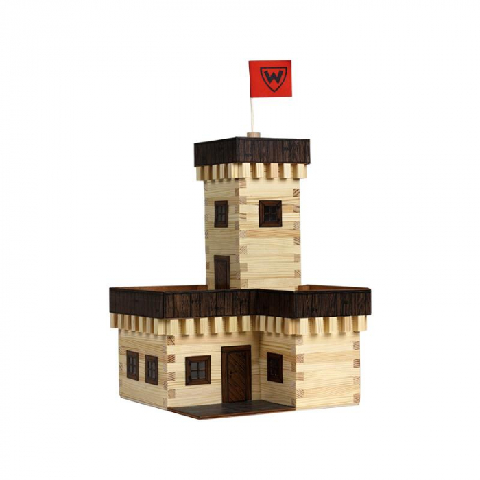Set constructie arhitectura Castel de vara, 296 piese din lemn, Walachia [0]