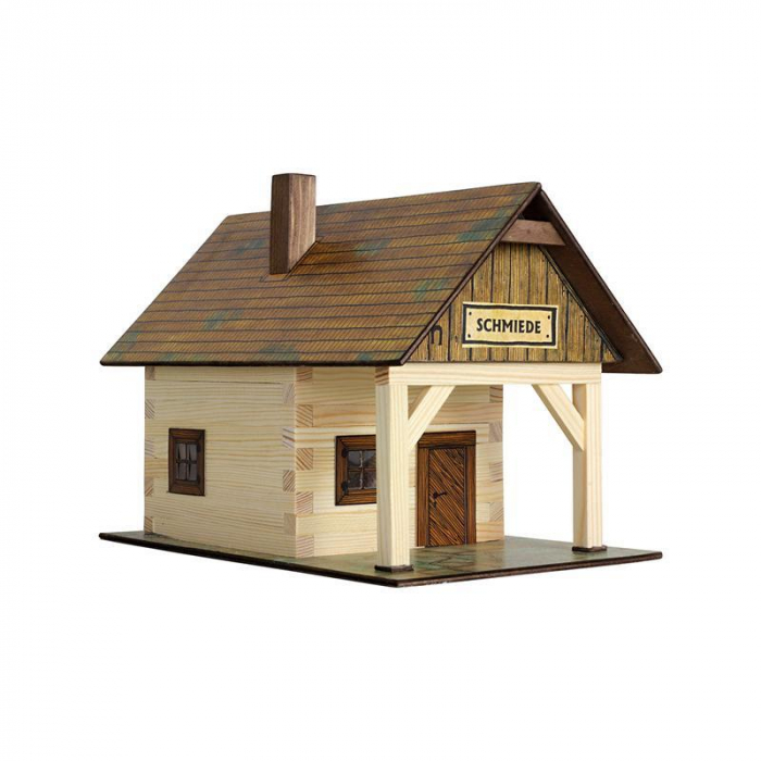 Set constructie arhitectura Fierarie, 86 piese din lemn, Walachia [2]