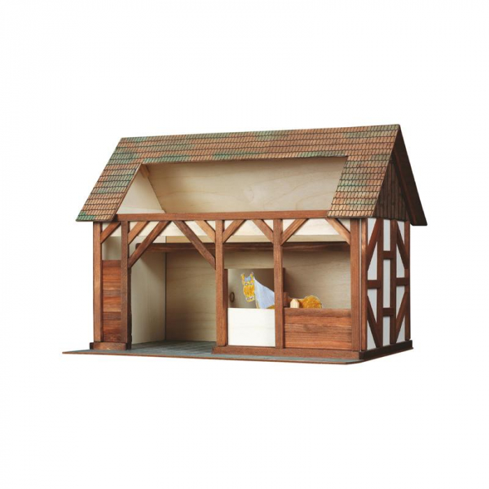 Set constructie arhitectura Grajdul animalelor, 154 piese din lemn, Walachia [0]