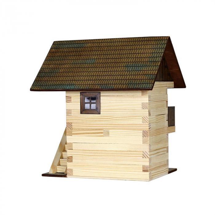 Set constructie arhitectura Granar, 126 piese din lemn, Walachia [1]