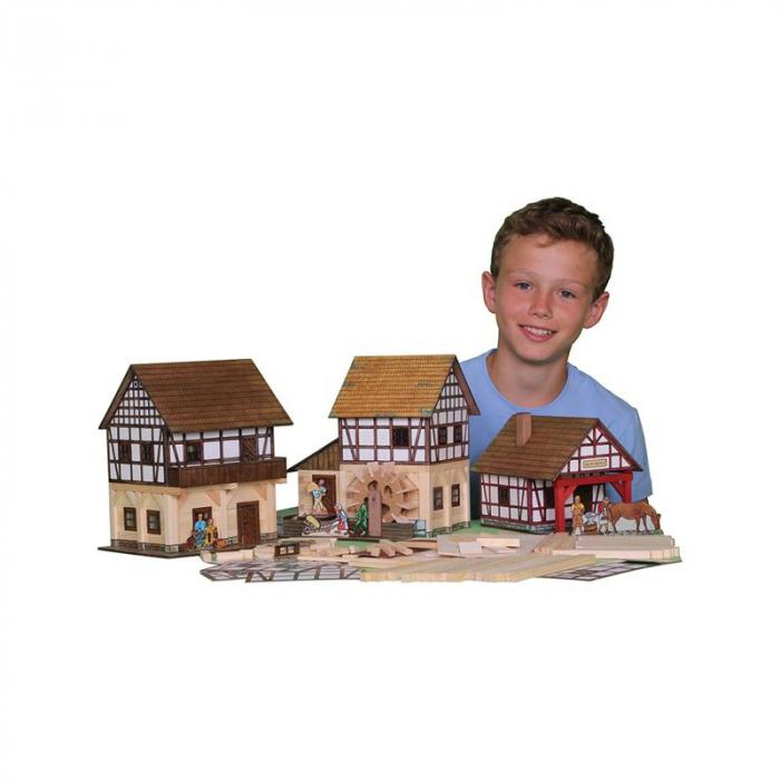 Set constructie arhitectura Granar cu grinzi, 115 piese din lemn, Walachia [2]