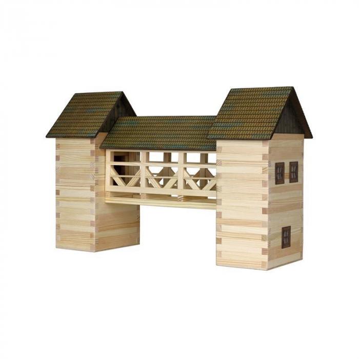 Set constructie arhitectura Pod, 259 piese din lemn, Walachia [1]