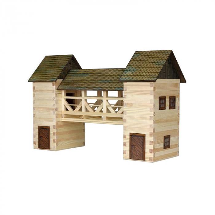 Set constructie arhitectura Pod, 259 piese din lemn, Walachia [0]
