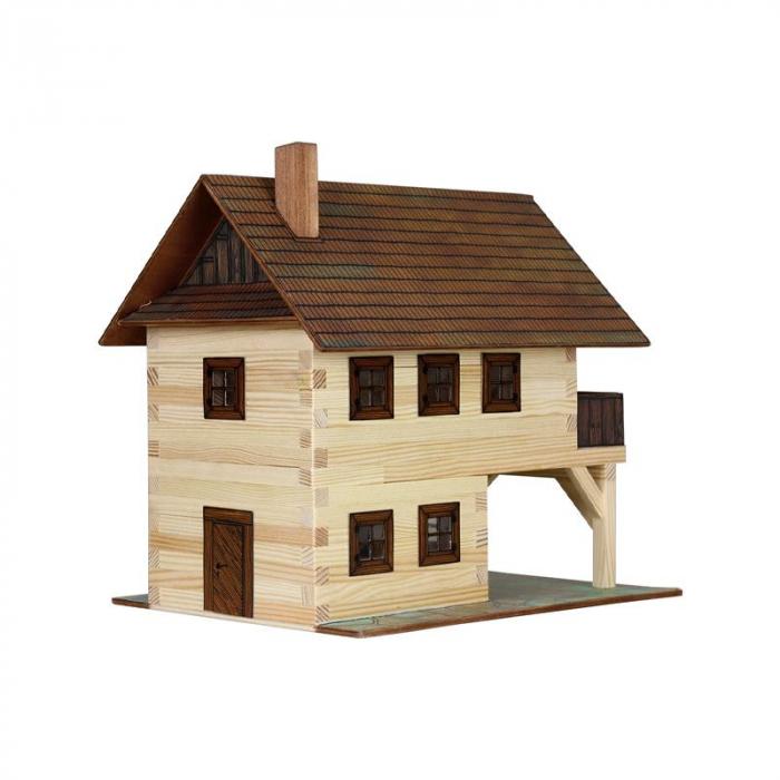 Set constructie arhitectura Primarie medievala, 194 piese din lemn, Walachia [1]