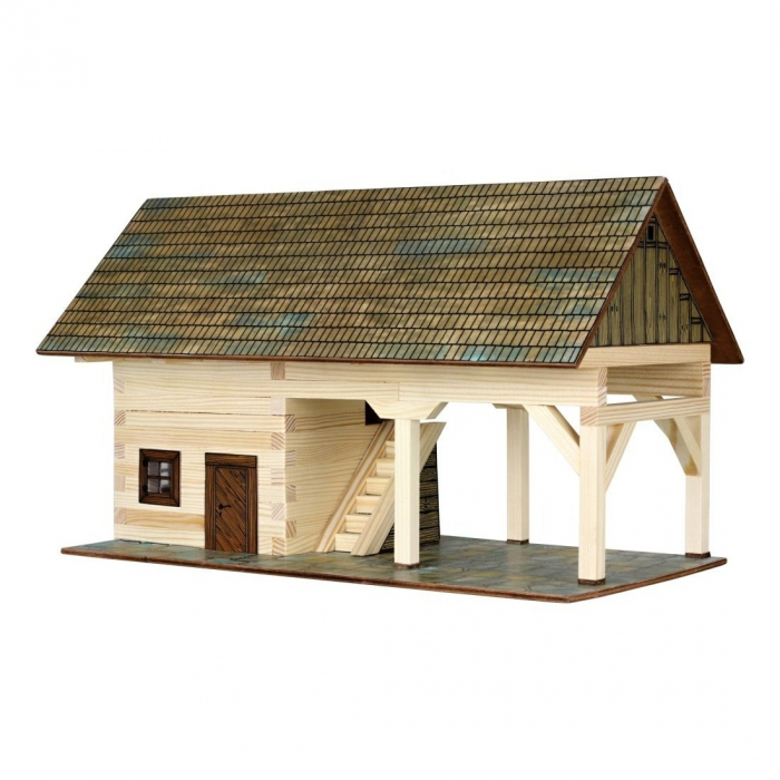 Set constructie arhitectura Sopron, 131 piese din lemn, Walachia [0]