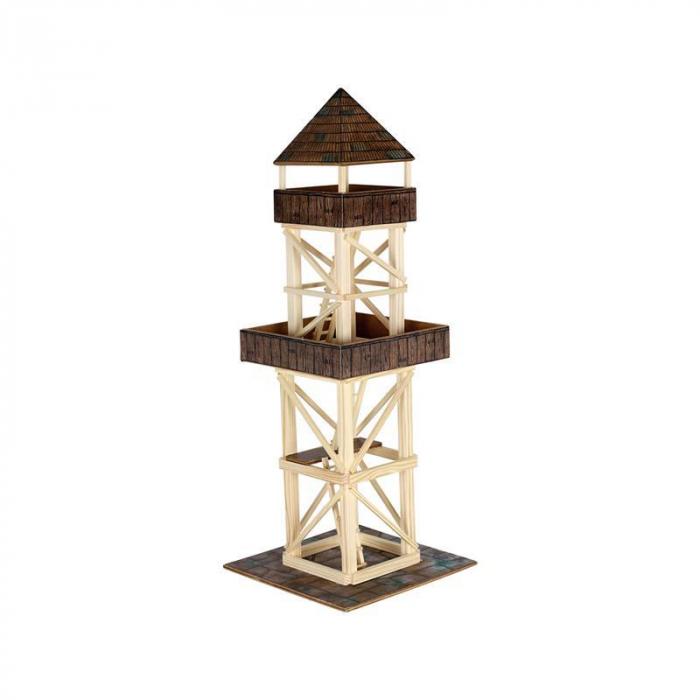Set constructie arhitectura Turn de observatie, 124 piese din lemn, Walachia [0]