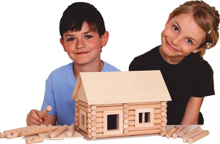 Set constructie arhitectura Vario, 72 piese din lemn, Walachia [3]