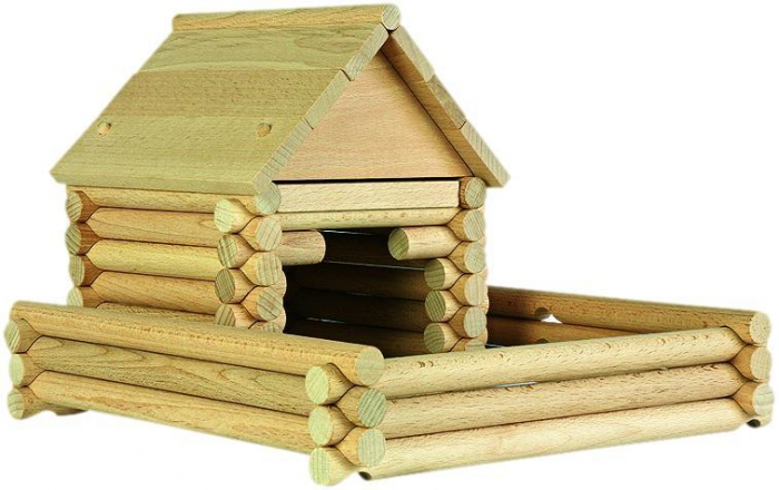 Set constructie arhitectura Vario Massive Mini, 91 piese mari din lemn, Walachia [6]