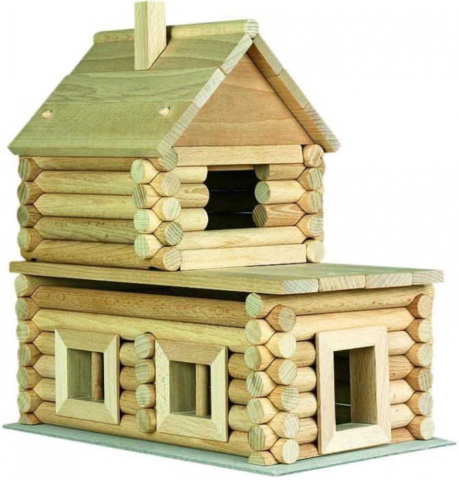 Set constructie arhitectura Vario Massive Mini, 91 piese mari din lemn, Walachia [1]
