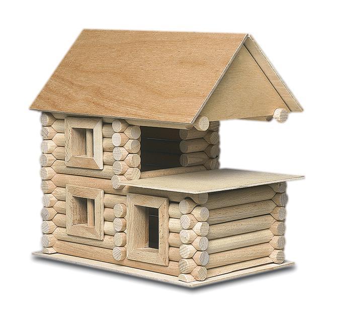 Set constructie arhitectura Vario XL, 184 piese din lemn, Walachia [4]