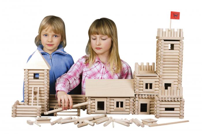 Set constructie arhitectura Vario XL, 184 piese din lemn, Walachia [5]
