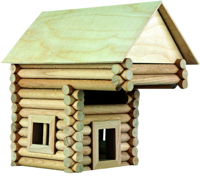 Set constructie arhitectura Vario XL, 184 piese din lemn, Walachia [6]