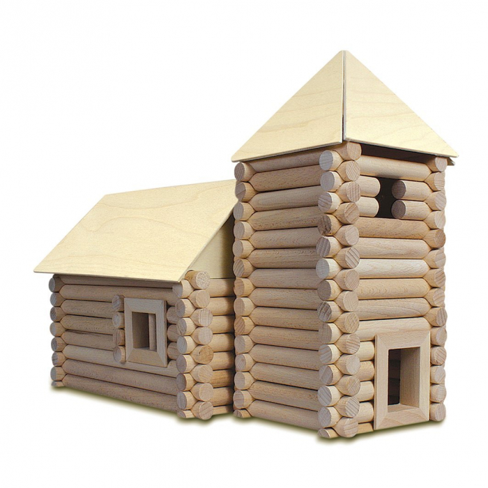 Set constructie arhitectura Vario XL, 184 piese din lemn, Walachia [1]