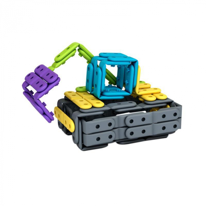 Set constructie creativa cu benzi flexibile 200 piese, Belti [2]