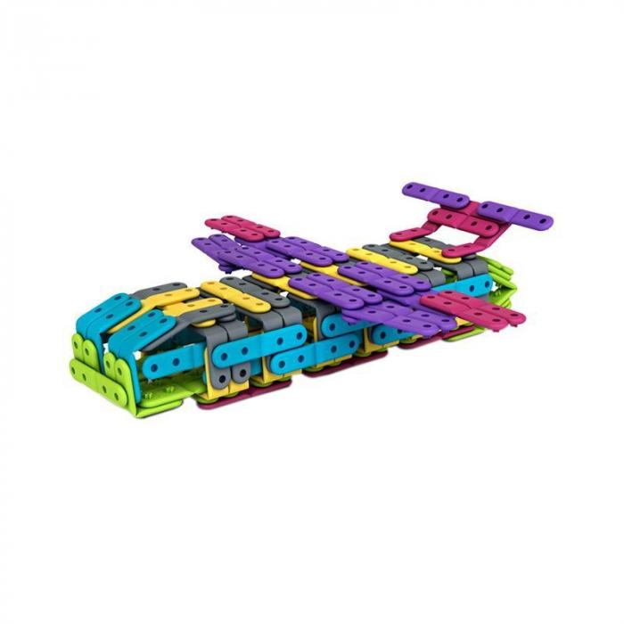 Set constructie creativa cu benzi flexibile 200 piese, Belti [3]