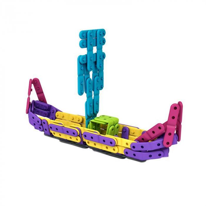 Set constructie creativa cu benzi flexibile 200 piese, Belti [4]