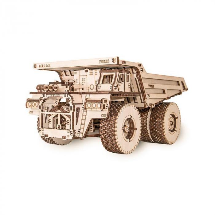 Set constructie cu mecanism Puzzle 3D BELAZ 75600 din lemn 307 piese @ EWA [4]