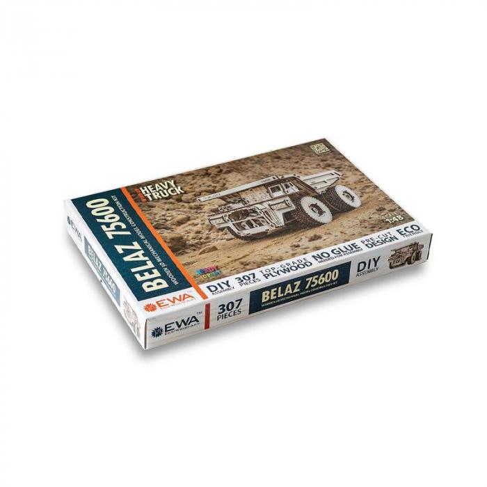 Set constructie cu mecanism Puzzle 3D BELAZ 75600 din lemn 307 piese @ EWA [5]