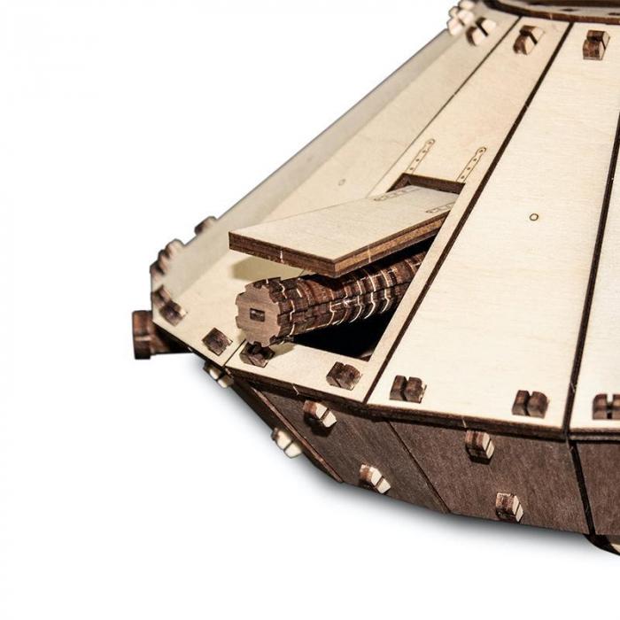 Set constructie cu mecanism Puzzle 3D DA VINCI TANK din lemn 363 piese @ EWA [1]