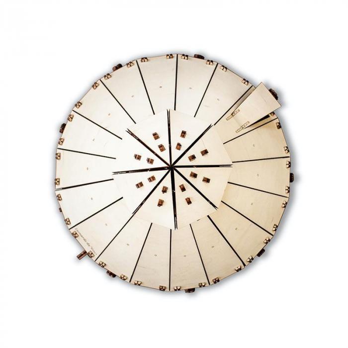 Set constructie cu mecanism Puzzle 3D DA VINCI TANK din lemn 363 piese @ EWA [3]