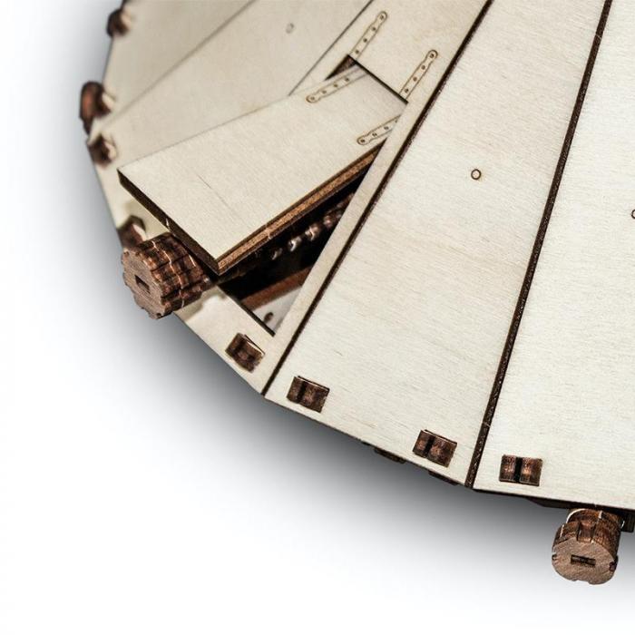 Set constructie cu mecanism Puzzle 3D DA VINCI TANK din lemn 363 piese @ EWA [2]