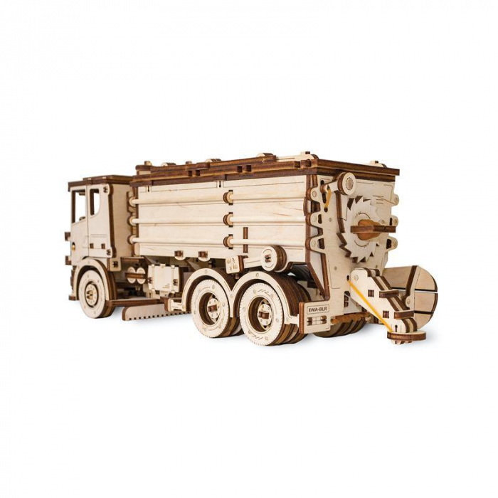 Set constructie cu mecanism Puzzle 3D SNOWTRUCK din lemn 417 piese @ EWA [2]