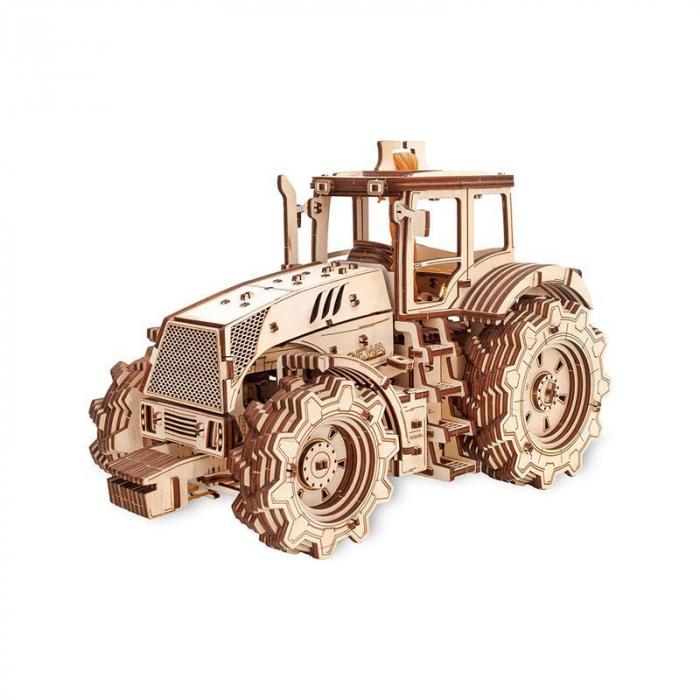 Set constructie cu mecanism Puzzle 3D TRACTOR din lemn 357 piese @ EWA [0]