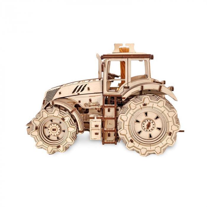 Set constructie cu mecanism Puzzle 3D TRACTOR din lemn 357 piese @ EWA [5]
