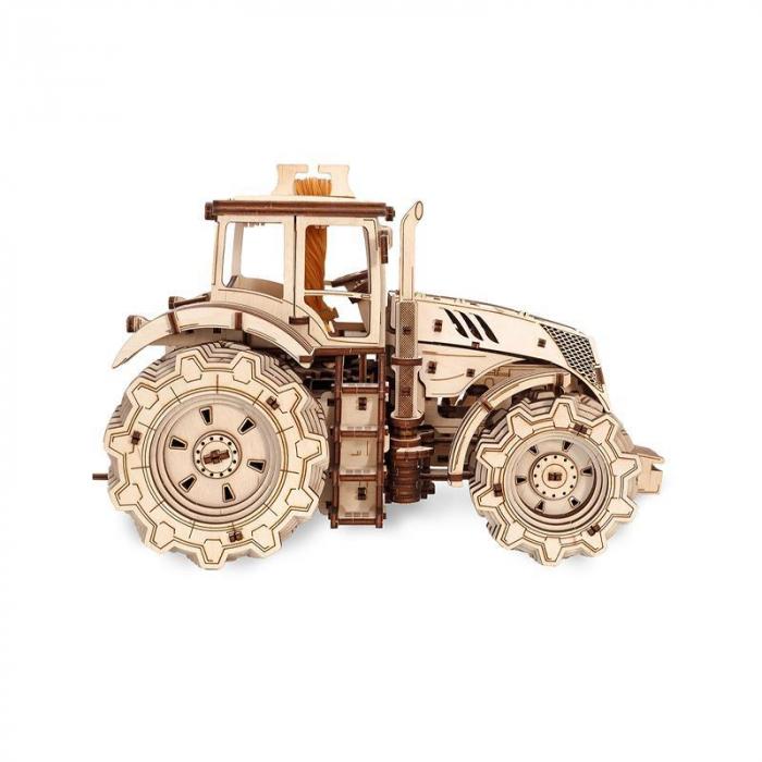 Set constructie cu mecanism Puzzle 3D TRACTOR din lemn 357 piese @ EWA [6]