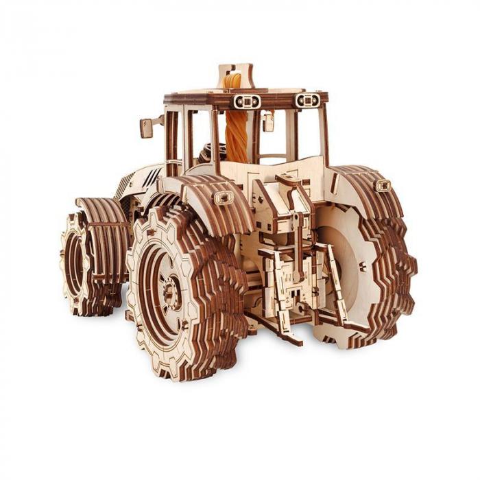 Set constructie cu mecanism Puzzle 3D TRACTOR din lemn 357 piese @ EWA [3]