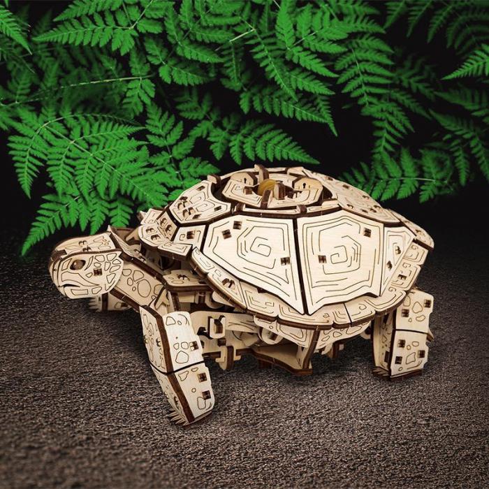 Set constructie cu mecanism Puzzle 3D TURTLE din lemn 269 piese @ EWA [4]