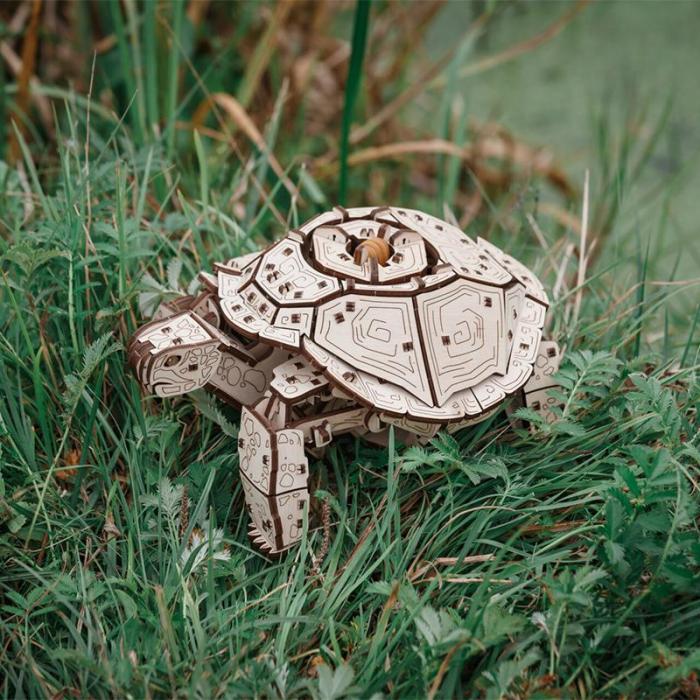 Set constructie cu mecanism Puzzle 3D TURTLE din lemn 269 piese @ EWA [2]