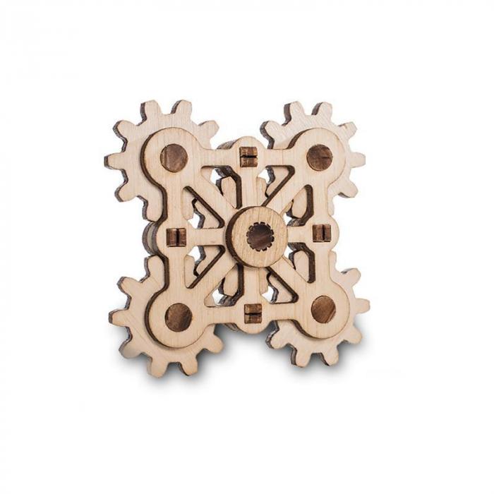 Set constructie mini cu mecanism Puzzle 3D TWISTER MINI din lemn 18 piese @ EWA [0]