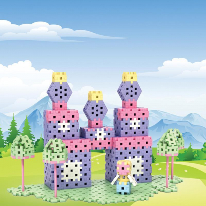 Set creativ de constructie Castelul Printesei, 434 piese, Meli [3]