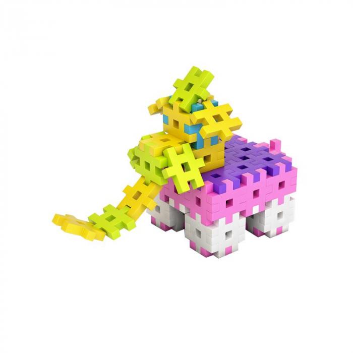 Set creativ de constructie, Maxi Pink 100 piese mari, Meli [2]