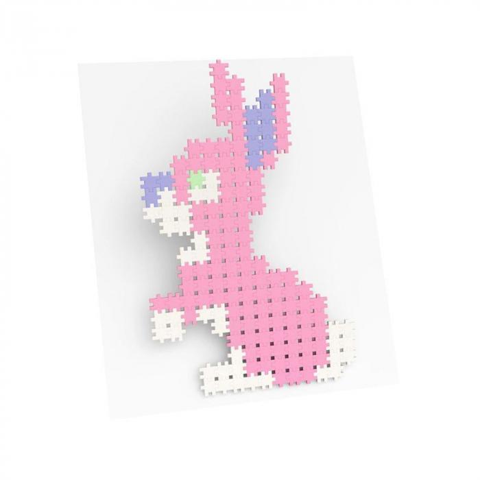 Set creativ de constructie, Minis Pastel 1200 piese, Meli [3]