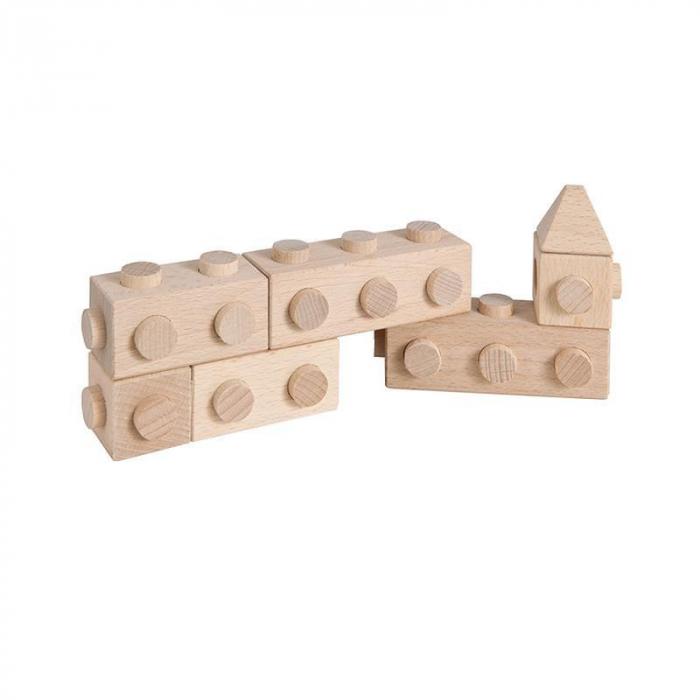 Set cuburi de constructie din lemn Architect XL, +1 an, Matador [4]