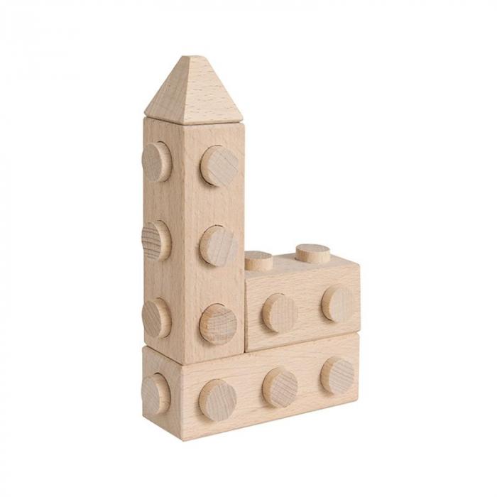Set cuburi de constructie din lemn Architect XL, +1 an, Matador [3]