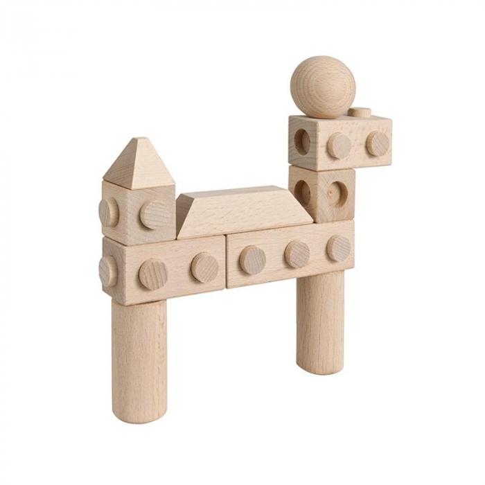 Set cuburi de constructie din lemn Architect XL, +1 an, Matador [5]