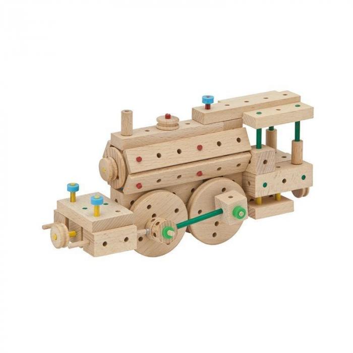 Set cuburi de constructie din lemn Explorer 200, +5 ani, Matador [3]