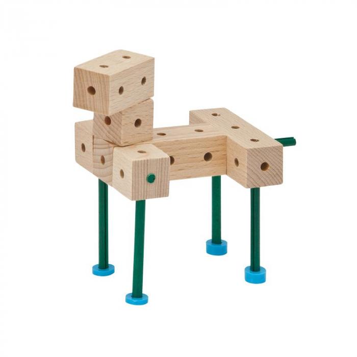 Set cuburi de constructie din lemn Explorer 222 piese, +5 ani, Matador [1]