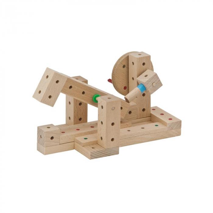 Set cuburi de constructie din lemn Explorer 222 piese, +5 ani, Matador [3]